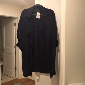 Long navy blue jacket